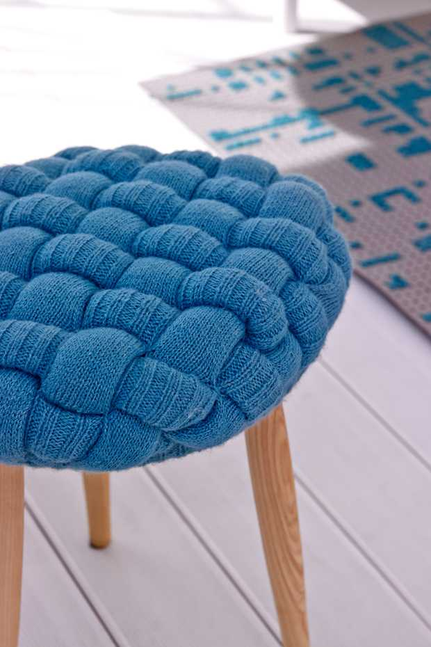 Knitted Stool by Gan Rugs product image 2