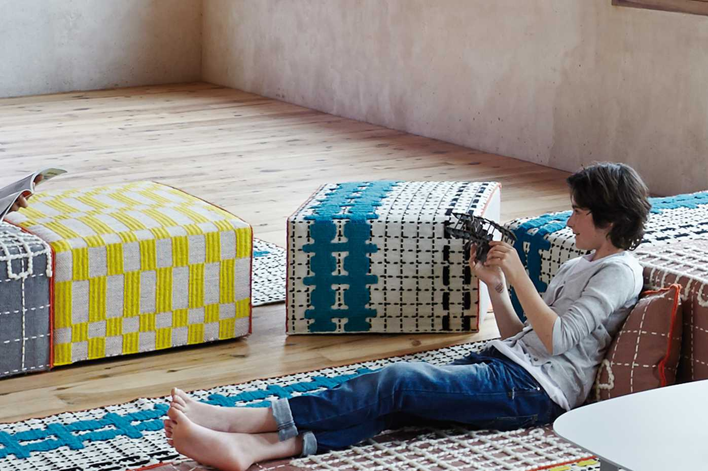 Bandas Pouf by Gan Rugs product image 1