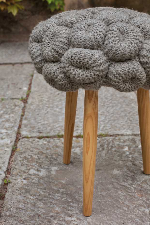 Knitted Stool by Gan Rugs product image 3