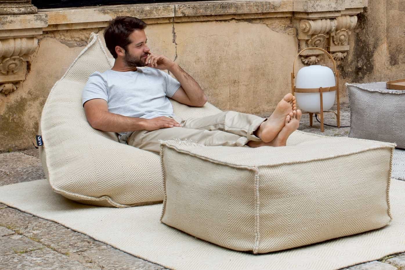 Sail Square Pouf by Gan Rugs product image 1