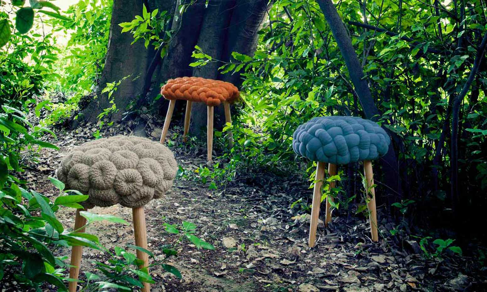 Knitted Stool by Gan Rugs product image 1