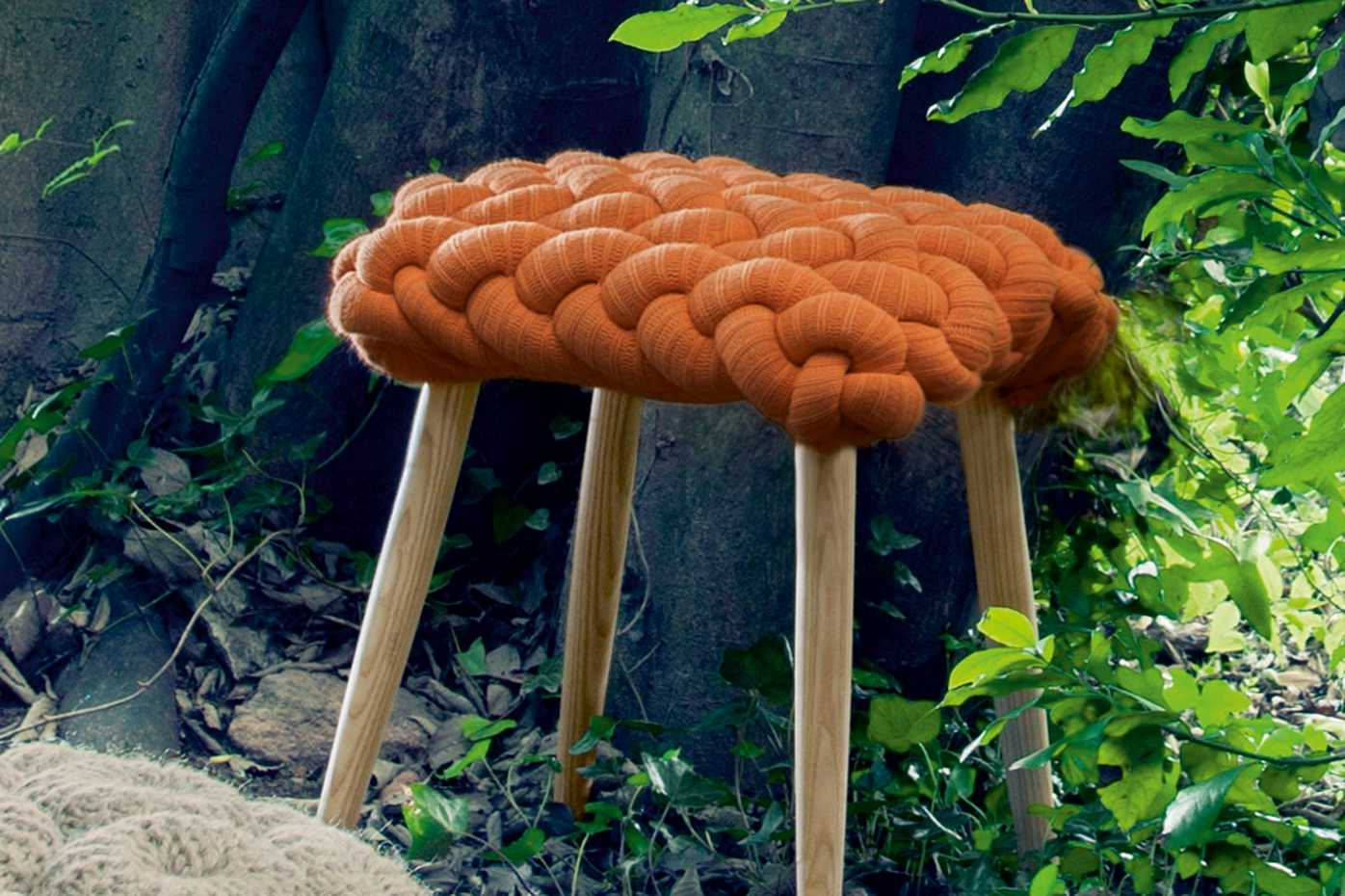 Knitted Stool by Gan Rugs product image 4